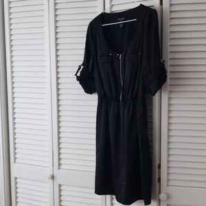WHBM Black midi dress